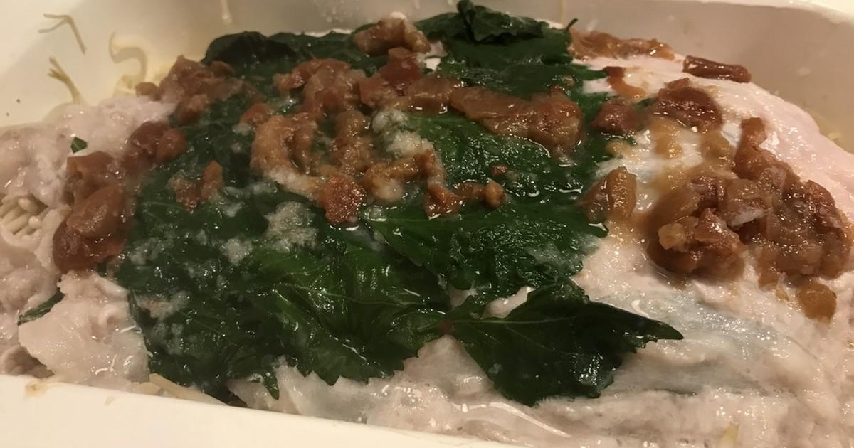 大葉と豚肉のみぞれ鍋 by サボテン母ちゃん