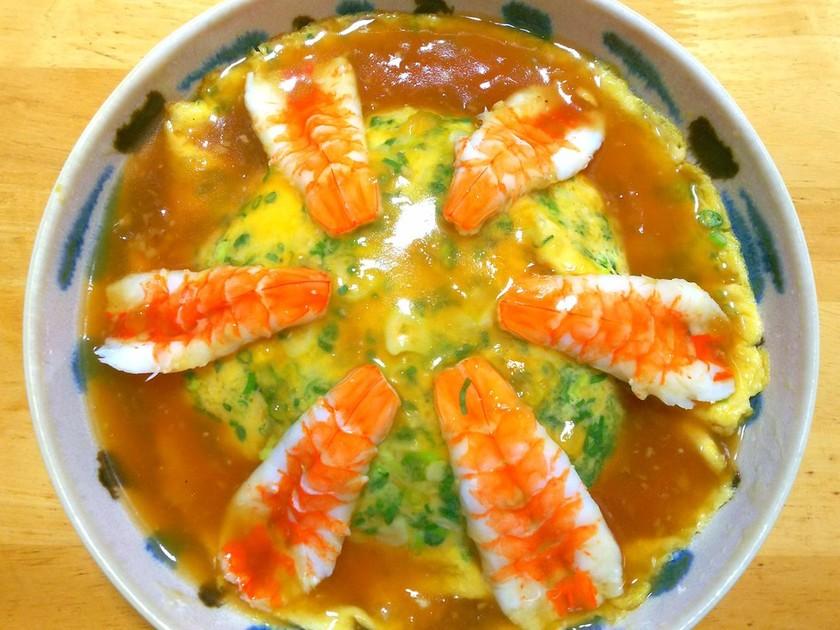 エビ玉の天津丼◎寿司ネタのエビで簡単
