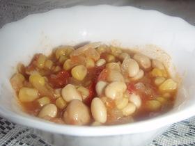 簡単*大豆とトマトの洋風煮込み
