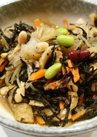 副菜3種:ヒジキ煮+ナムル+カブ浅漬け