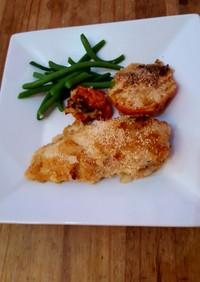 英国発☆鶏胸肉のパルメザンチーズ焼き