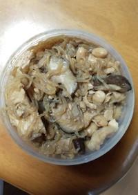 糸コンとささみ、大豆のコンソメ炒め