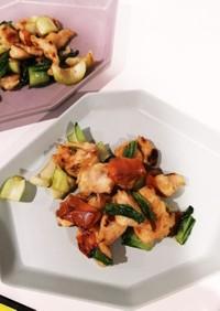 鶏ささみと野菜の炒めもの