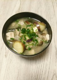 おかずスープ☆豆腐と茄子の味噌汁