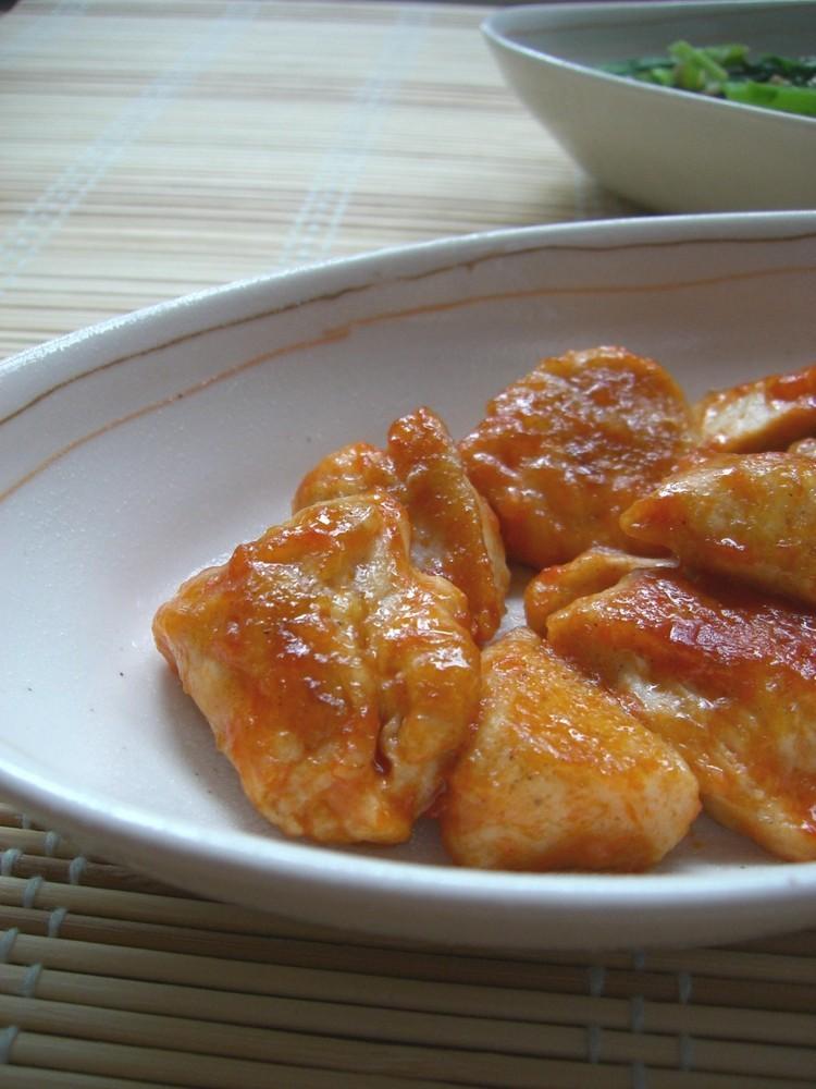 鶏胸肉の❤ふんわりオーロラソース照り焼き