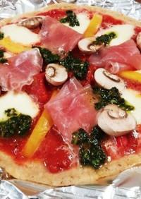 2種類の塩麴ソースとEU食材たっぷりピザ