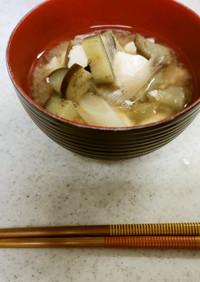 ✨♥茄子とネギと豆腐の味噌汁✨♥