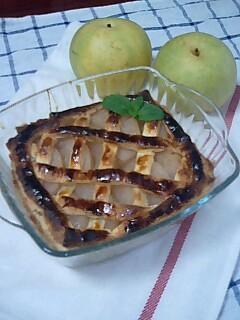 サツマイモと梨の簡単パイ