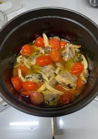 さんま水煮缶で作る簡単アヒージョ