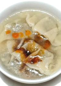 自家製紫蘇ギョーザでヘルシースープ餃子