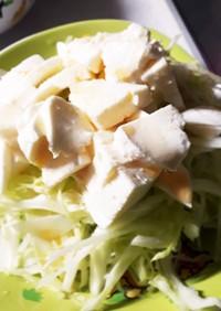 キャベツとモッツァレラチーズのサラダ