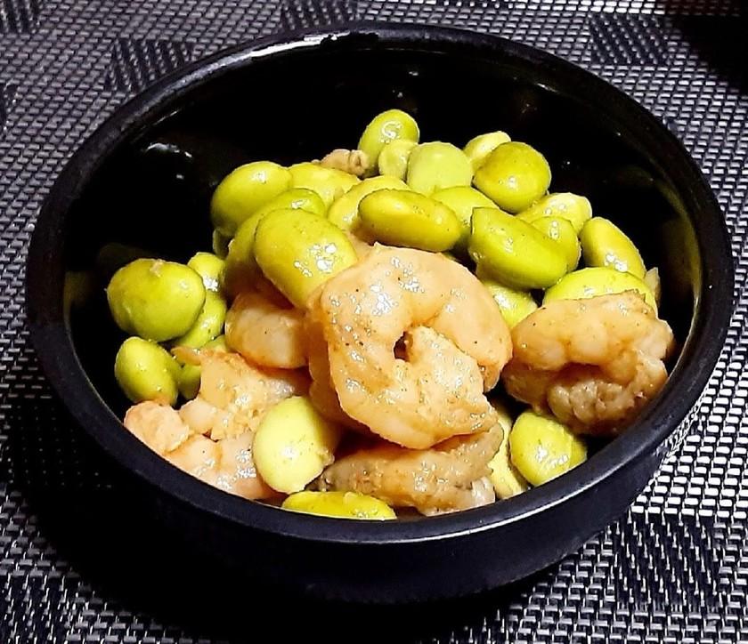 海老と剥き枝豆のカレーオイル煮