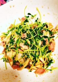 豆苗のサラダ