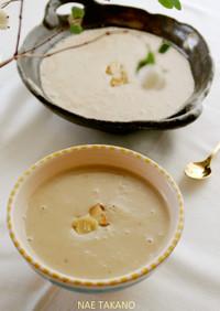 豆乳と味噌で作る♡生栗のポタージュスープ