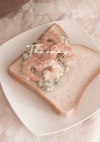 ブロッコリーと海老の簡単*サンドイッチ