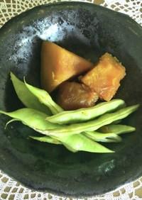 やっぱり美味しい♪南瓜とインゲン豆の煮物