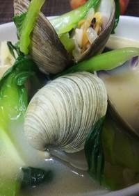 簡単美味・ホンビノス貝でクラムチャウダー