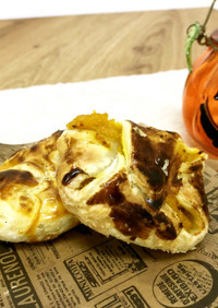 ハロウィンに♪簡単かぼちゃパイ