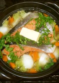 洋風かぶ鍋♪簡単な鮭鍋♪胃腸に優しい