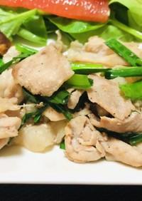 今日のおかずはニラ豚肉炒め・中華風