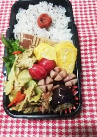 パパ弁当♡肉野菜カレー風味10/16