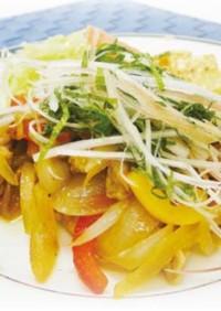 香味野菜とポークのさわやか生姜焼き