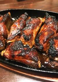 魚焼きグリルでスペアリブの鉄板焼き