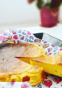 簡単♡濃厚☆かぼちゃバスク風チーズケーキ