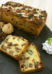 イチジクと木の実のパウンドケーキ