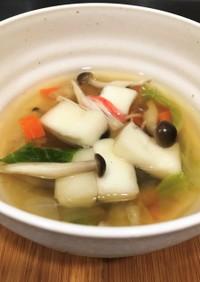 白菜とキノコの和風だしスープ 療養食兼用