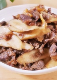牛肉とごぼうの甘辛しぐれ煮♡