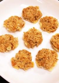 桜海老とオートミールのチーズせんべい