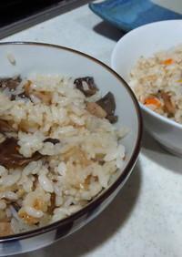 ボリボリの炊き込みご飯(圧力鍋)