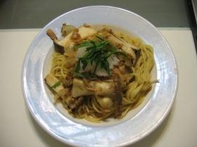 ツナとエリンギのおろしスパゲティー