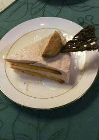 アーモンドクリームと赤ワインレアチーズ