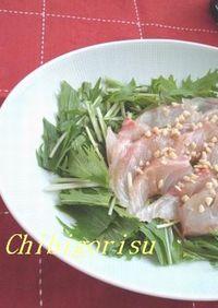 中華風✿鯛のカルパッチョ