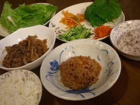 ピリ辛納豆で作る!韓国の家庭料理サンパプ