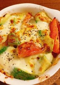 【簡単】トマトとアボカドのオーブン焼