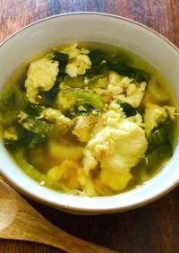 チンゲン菜と卵のほっこりスープ