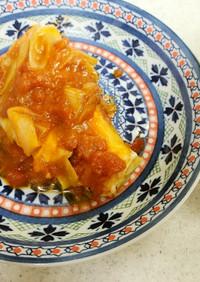 ✨鱈とネギのトマト煮込み&茄子の味噌汁✨