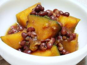 圧力鍋で☆かぼちゃと小豆のいとこ煮