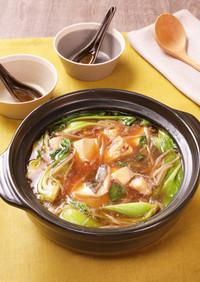 たらと豆腐の中華風とろみ鍋