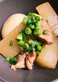 豚角切り肉と大根の甘辛煮