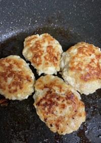 簡単糖質オフ☆鶏挽きと豆腐のハンバーグ