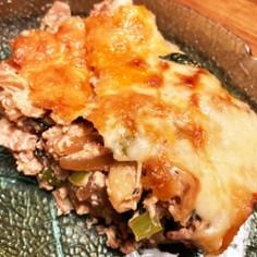 トースターで!油揚げとお豆腐のグラタン