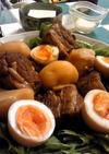 お鍋ひとつでトロける豚角煮+大根煮+味玉