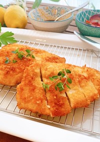 鶏むね肉の簡単ミラノ風カツレツ♪