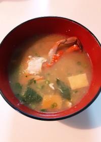 蟹の出汁が美味しすぎる!渡り蟹のお味噌汁