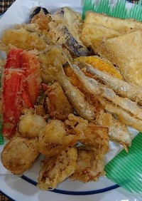 野菜や魚介の簡単天ぷら