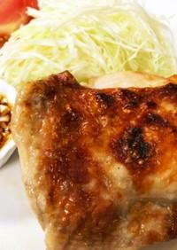 鶏モモ肉塩焼き☆魚焼グリル☆油淋鶏ソース